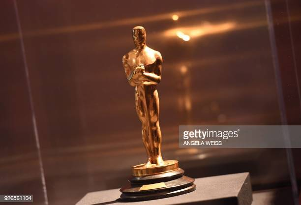 An Oscar statue is seen at the Foreign Language Film Oscar nominees reception sponsored by the Academy of Motion Picture Arts and Sciences in Beverly...