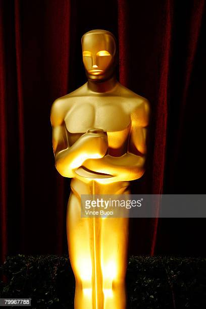 An Oscar statue is seen on the red carpet at the 80th Annual Academy Awards held at the Kodak Theatre on February 24 2008 in Hollywood California