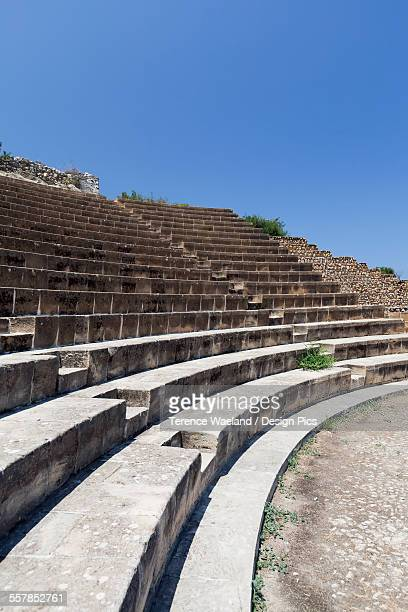 an outdoor amphitheatre against a blue sky - terence waeland stock pictures, royalty-free photos & images