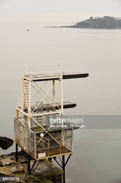 An outdoor diving platform at Tinside Lido Plymouth Hoe