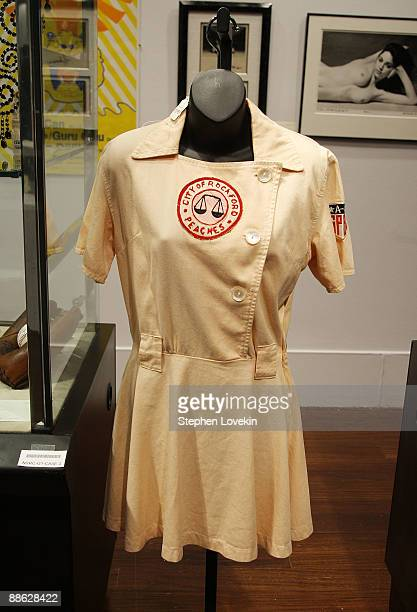 An outfit once worn by Madonna in 'A League of Their Own' is up for auction at the Christie's Pop Culture auction on June 22 2009 in New York City