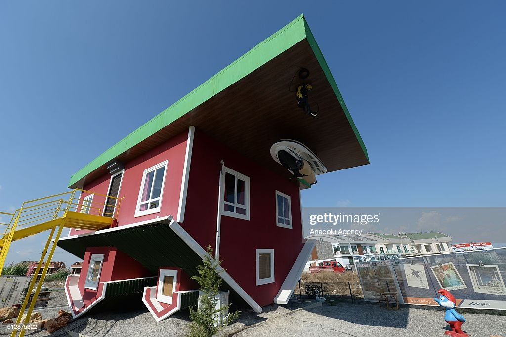 Upside-down house in Turkey\'s Antalya Pictures | Getty Images