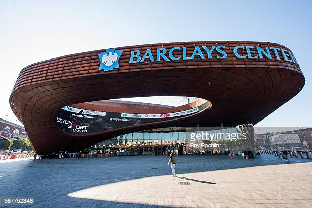 An outside view of Barclays Center during the Beyond Sport United 2016 at Barclays Center on August 9 2016 in Brooklyn New York