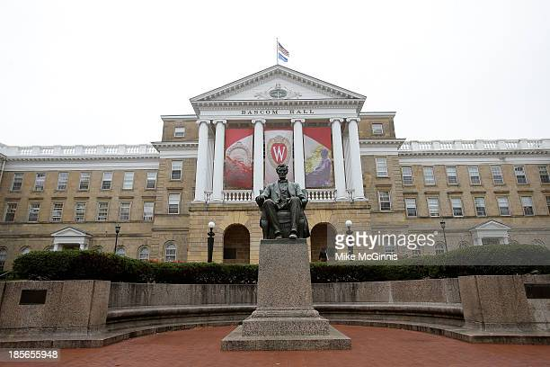 An outside view of Bascom Hall on the campus of the University of Wisconsin on October 12 2013 in Madison Wisconsin