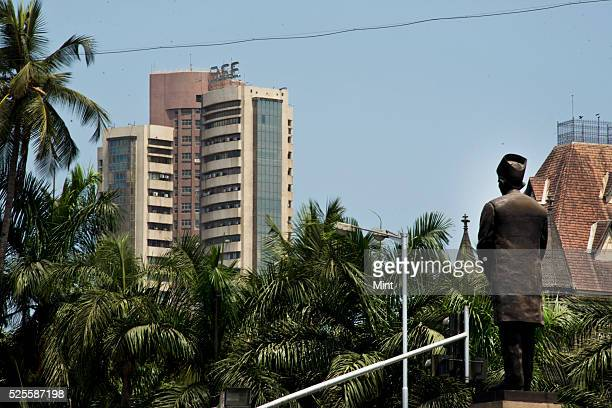 An outside view of Bombay Stock Exchange on May 15 2015 in Mumbai India