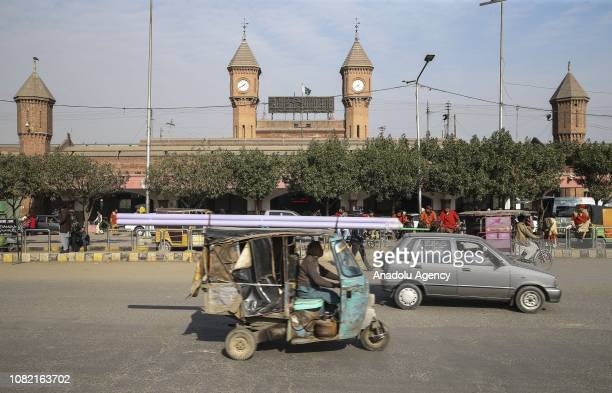 An outside view of Lahore railway station, one of the leading structures and point of transportations of the city is seen in Lahore, the capital of...