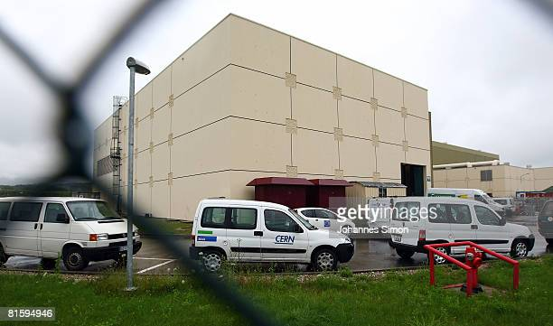 An outside view of Point 5 of the Large Hadron Collider part of the CERN research center is shown June 16 2008 in Cessy near Geneva Switzerland The...