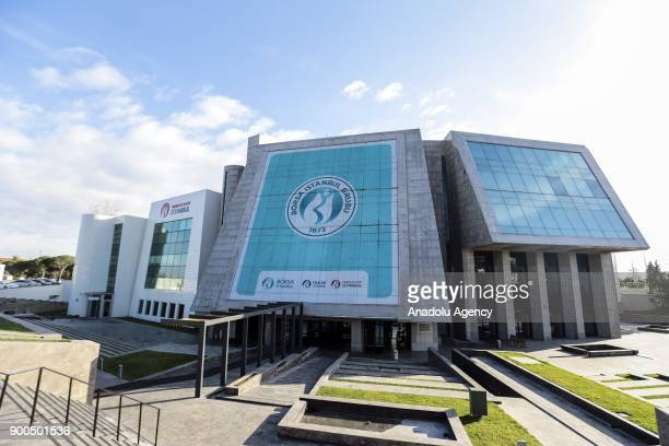 An outside view of the Borsa Istanbul office in Istanbul Turkey on January 02 2018 The BIST 100 Index has increased to 11684931 points being the...