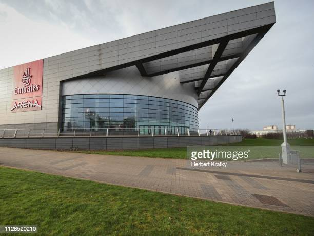 An outside view of the Emirates Arena on March 3 2019 in Glasgow United Kingdom