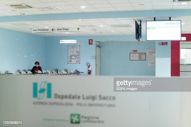 An Outside view of the First Aid Point With an increasing toll of confirmed cases of people infected by Coronavirus and two deaths the Italian...