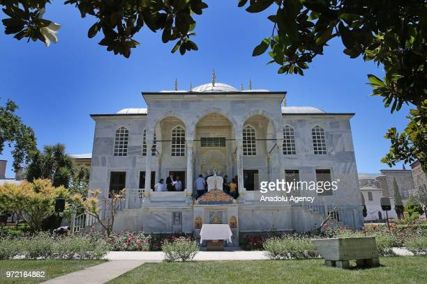 An outside view of the Library of Ahmet III is seen during its opening ceremony at the Topkapi Palace in Istanbul Turkey on June 12 2018