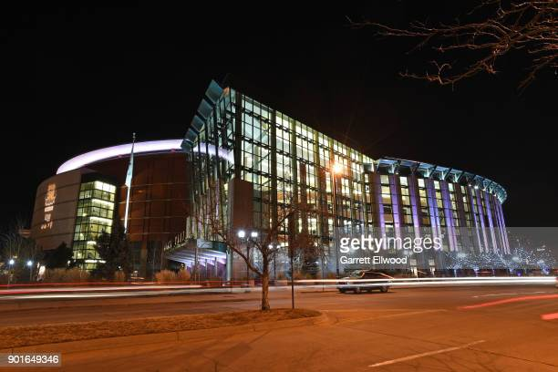 An outside view of the Pepsi Center on January 3 2018 at the Pepsi Center in Denver Colorado NOTE TO USER User expressly acknowledges and agrees that...