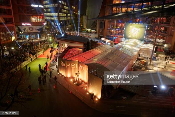 An outside view of the venue at the Bambi Awards 2017 at Stage Theater on November 16 2017 in Berlin Germany