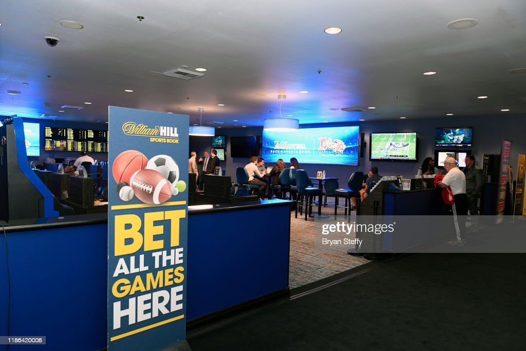 William Hill Race & Sports Book At The Plaza Turning On Ceremony : News Photo