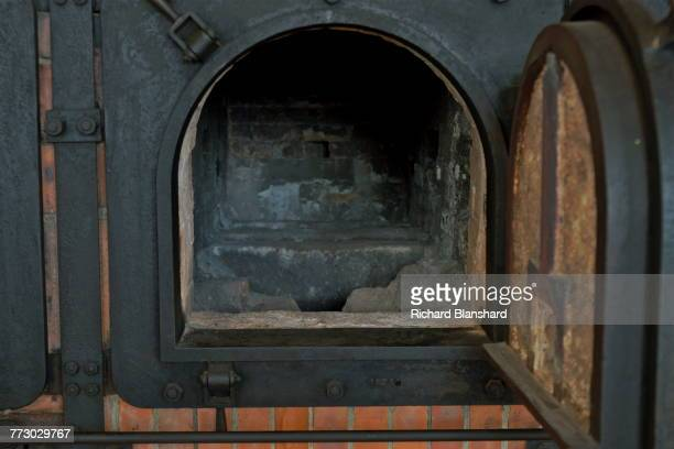 An oven in the crematorium at the Buchenwald German Nazi concentration camp near Weimar Germany 2014 The site is now a museum and memorial