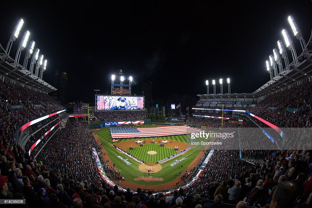 MLB: OCT 25 World Series - Game 1 - Cubs at Indians : News Photo