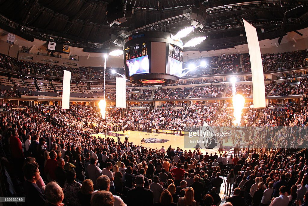 An overall general view of FedExForum arena before the game against the Memphis Grizzlies and Utah Jazz on November 5, 2012 at FedExForum in Memphis, Tennessee.