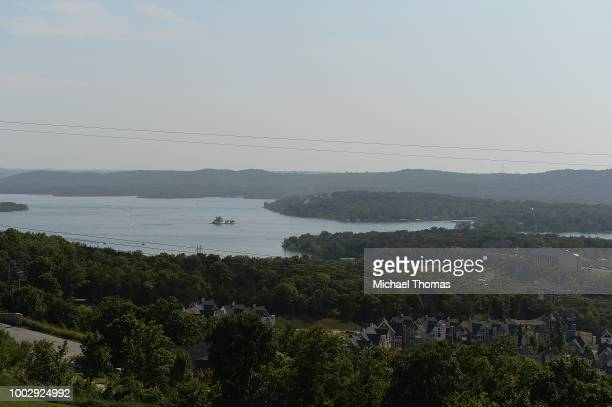 An overall of Table Rock Lake is seen on July 20 2018 in Branson Missouri Table Rock Lake was the sight of a Ride The Ducks Tours Duck Boat capsizing...
