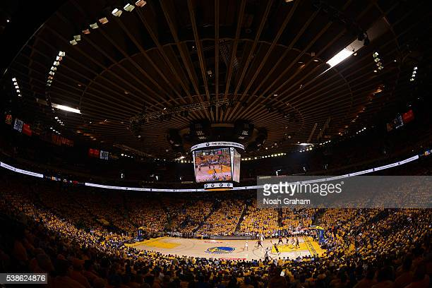 An overall shot of Oracle Arena during Game Two of the 2016 NBA Finals between the Cleveland Cavaliers and the Golden State Warriors on June 5 2016...