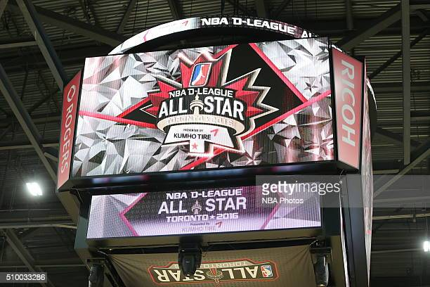 An overall shot of the jumbotron during the NBA DLeague AllStar Game 2016 presented by Kumho Tire as part of 2016 AllStar Weekend at the Ricoh...