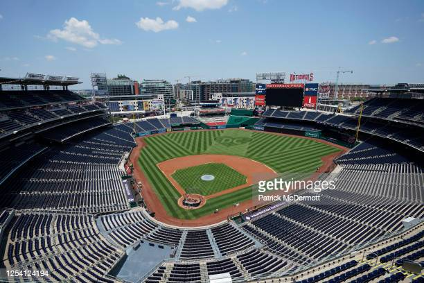 An overall view during the Washington Nationals Summer Workouts at Nationals Park on July 03, 2020 in Washington, DC.