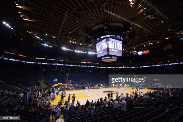 An overall view of of the Golden State Warriors during practice and media availability as part of the 2018 NBA Finals on MAY 30 2018 at ORACLE Arena...