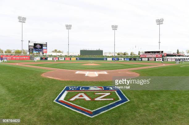 An overall view of Surprise Stadium prior to a spring training game between the Milwaukee Brewers and the Kansas City Royals at Surprise Stadium on...