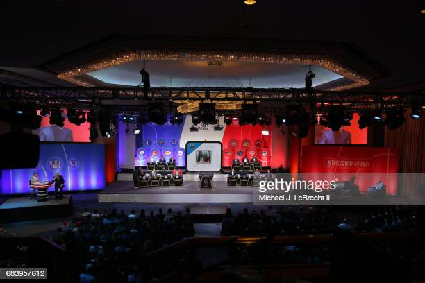 An overall view of the 2017 NBA Draft Lottery at the New York Hilton in New York New York NOTE TO USER User expressly acknowledges and agrees that by...