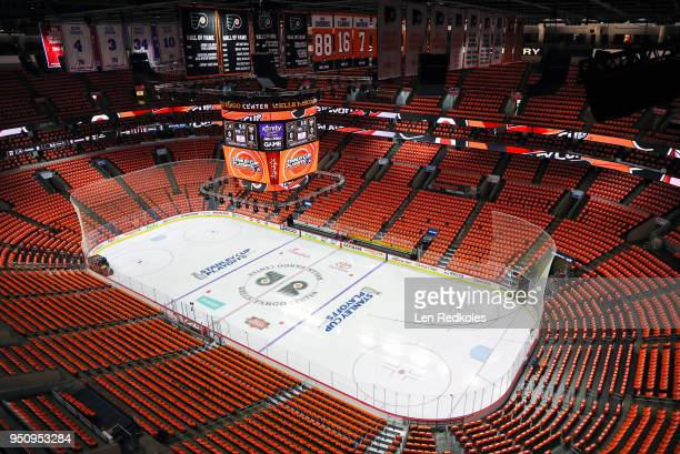 An overall view of the arena prior to the start of Game Four of the Eastern Conference First Round during the 2018 NHL Stanley Cup Playoffs between...