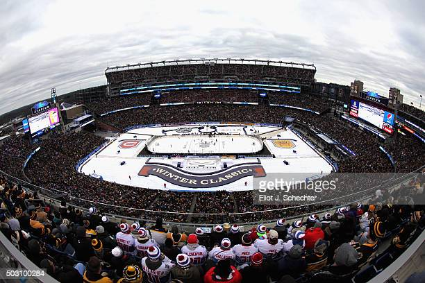 An overall view of the field prior to the start of the 2016 Bridgestone NHL Winter Classic between the Montreal Canadiens and the Boston Bruins at...