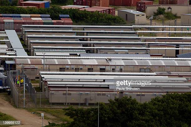 An overall view of the Immigration Detention Center compound February 25 2012 on Christmas Island Australia So far in 2012 the total number of...