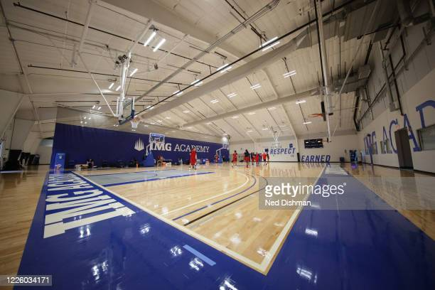 An overall view of the interior of the practice facility at IMG Academy on July 10, 2020 in Bradenton, Florida. NOTE TO USER: User expressly...