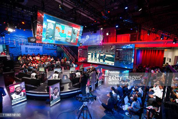 An overall view of the NBA2K League Studio during Week 12 of the NBA 2K League regular season on July 18 2019 at the NBA 2K Studio in Long Island...