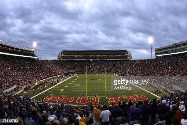 An overall view of the stadium during a game against the LSU Tigers and Mississippi Rebels on November 17 2007 at VaughtHemingway...