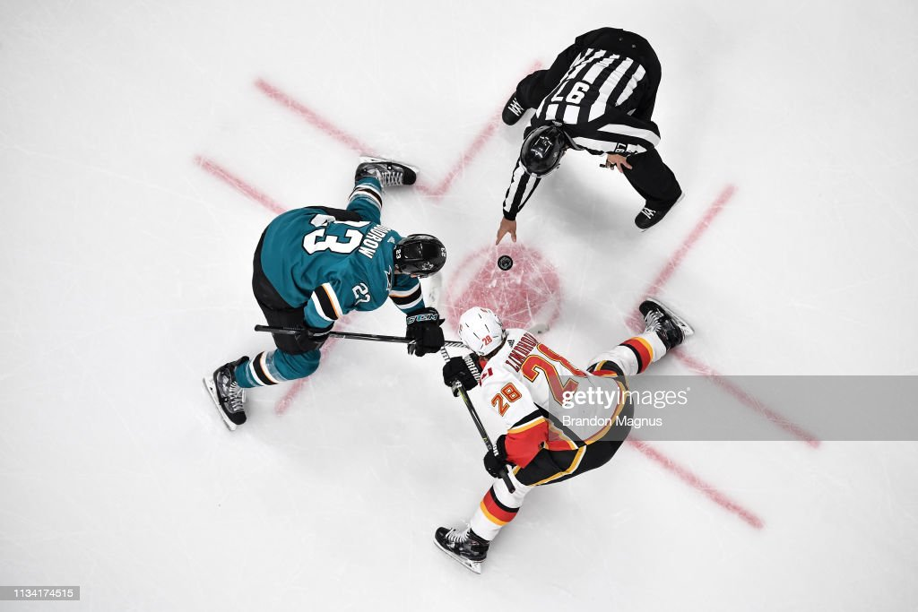 Calgary Flames v San Jose Sharks : News Photo