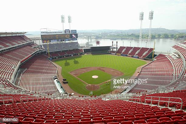 An overhead view at The Great American Ball Park on May 9, 2004 in Cincinnati, Ohio.