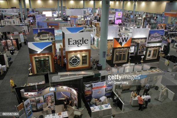 An overhead view of exhibitors at the American Institute of Architects National Convention