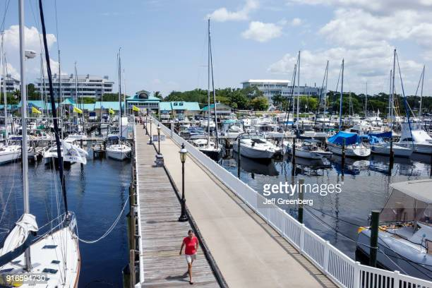 An overhead view of Regatta Pointe Marina