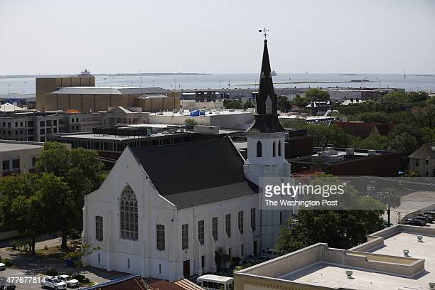 An overhead view of the historic Mother Emanuel African Methodist Episcopal Church in Charleston South Carolina June 18 2015