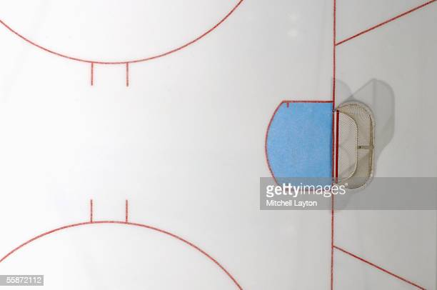 An overhead view of the ice during the preseason NHL game between the Washington Capitals and the Philadelphia Flyers on October 1, 2005 at MCI...