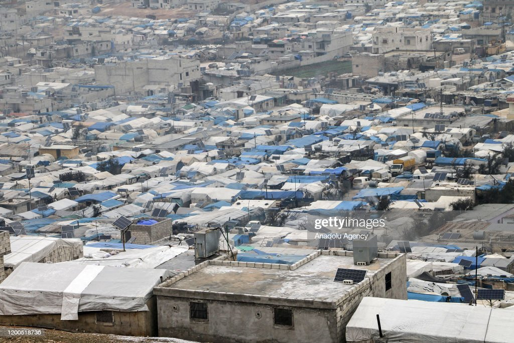 """""""Tents warmed by their breath"""" : News Photo"""
