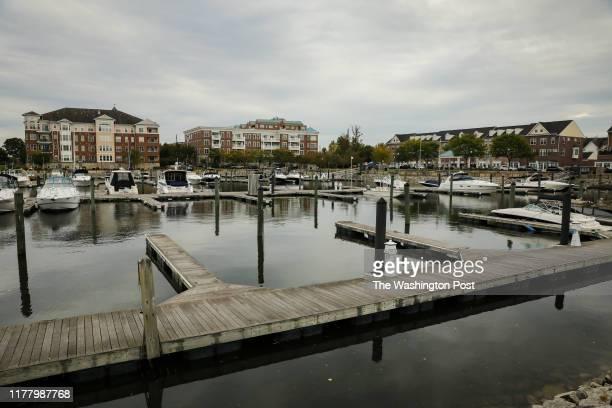 An overlook of the Belmont Bay Harbor Marina