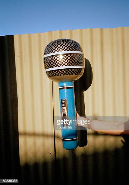 an oversized microphone - big mike stock pictures, royalty-free photos & images