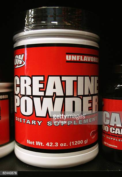 An overthecounter bodybuilding supplement lies on a shelf in a General Nutrition Centers store March 17 2005 in Des Plaines Illinois Stores such as...