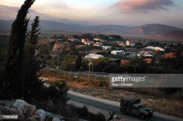 An overview landscape of the northern city of MetulaJuly 21 2006 near Israel's border with southern Lebanon The high majority of citizens living in...
