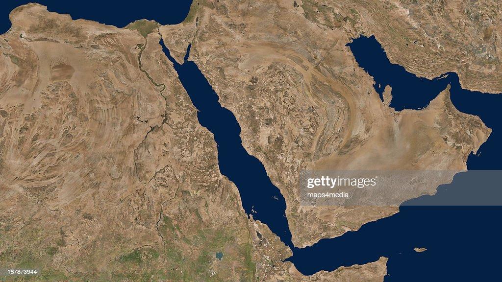 An overview map of Saudi Arabia.  (Loc5, Lyr1). : News Photo
