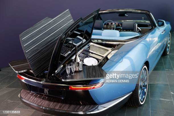An overview of a Rolls-Royce Boat Tail on show at the company's Goodwood headquarters near Chichester, southwest England on May 27, 2021. -...