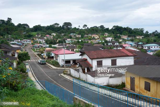 An overview of Batete village on August 09 2018 in Malabo Equatorial Guinea
