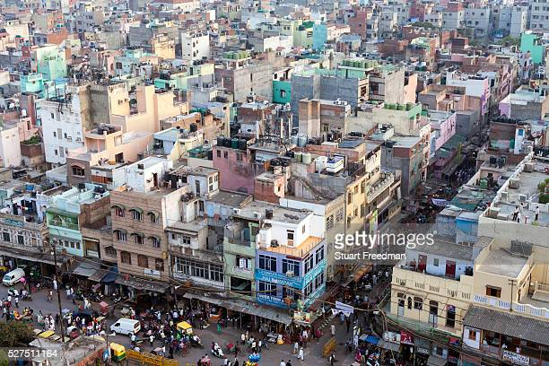 An overview of Delhi from the Jama Masjid Old Delhi India