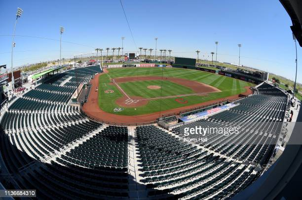 An overview of Goodyear Ballpark prior to a spring training game between the Cleveland Indians and the San Diego Padres at Goodyear Ballpark on March...